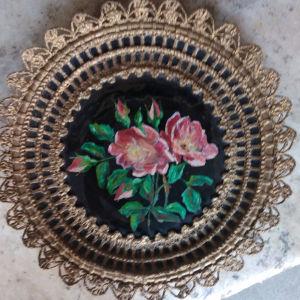 πιάτο τοίχου ζωγραφιστό παλαιάς εποχής.