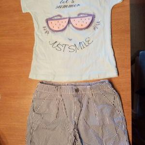 Σετ σορτσακι μπλουζακι για 7-8χρ