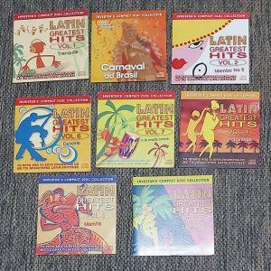 8 CDs ΑΧΡΗΣΙΜΟΠΟΙΗΤΑ ΜΕ LATIN GREATEST HITS ΠΑΚΕΤΟ 15 ΕΥΡΩ