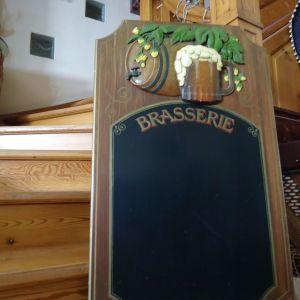 Παλαιος πινακας κιμωλιας Μπρασερι.