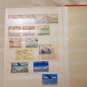 Ελβετια μικρή καλη συλλογή γραμματόσημων 1948-1972