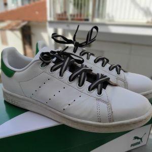 Adidas Stan Smith 39 1/3 με reflective κορδονια. Adidas Sneakers Stan Smith with reflective laces. Παπούτσια Adidas