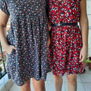 Attrativo φόρεμα με λουλουδάκι ψιλο