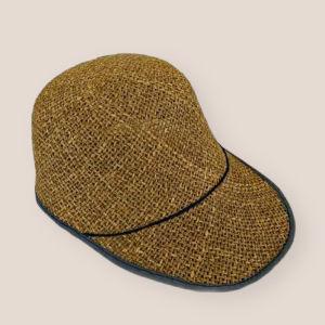 Vintage ψάθινο καπέλο μπλε
