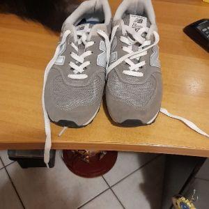 Sneakers NB574 γκρι ασπρο  ολοκαινουργια