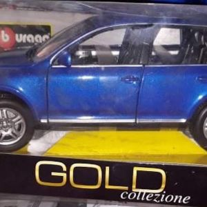 VW TOUAREG 2002 / BBURAGO GOLD COLLEZIONE / 1:18 / METALLIC BLUE / DIECAST
