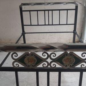 Κεφαλάρι κρεβάτι με ποδαρικό Μεταλλικό Ημίδιπλο 120 x 190cm