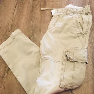 μπεζ υφασμάτινο παντελόνι Zara  τύπου cargo no 40
