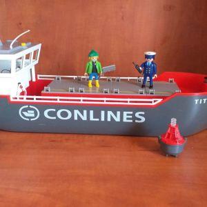 Playmobil 4472 φορτηγο πλοιο Conlines Titan