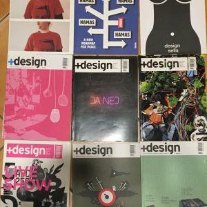 """ΠΕΡΙΟΔΙΚΟ ΓΡΑΦΙΣΤΑ-DESIGNER: """"δέλτα D"""" και """"+design"""" (44 τεύχη)"""