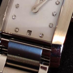 Baume mercier Hampton ladies watch stainless Steel 34mm swiss made sapphire crystal quartz diamand