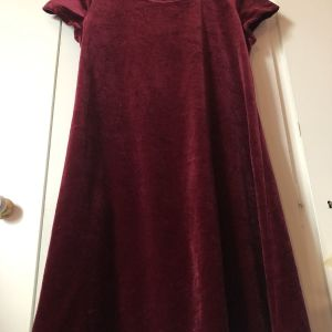 Vintage μπορντώ βελούδινο φόρεμα