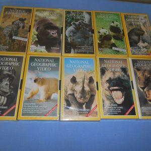NATIONAL GEOGPRAPHIC 10 VHS Z4