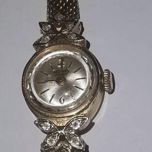 Vintage γυναικείο χρυσό ρολόι δεκαετίας 60 18Κ