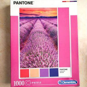 Παζλ Clementoni 1000 Κομμάτια Pantone Μωβ Βιόλες (1260-39493)
