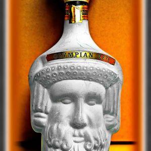 Διακοσμητικό μπουκάλι απο Brandy (άδειο) με Aρχαιο-Ελληνική εμφάνιση