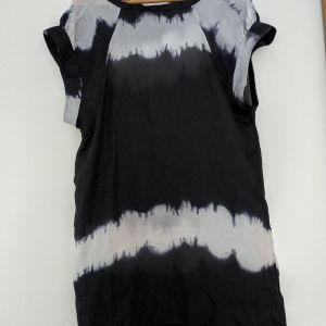 Μεταξωτή μακριά μπλούζα / φόρεμα L