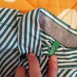 Πουκάμισο ριγέ πράσινο με άσπρο UNITED COLORS OF BENETTON