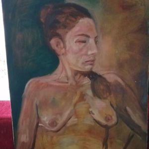 Γυμνό ελαιογραφία