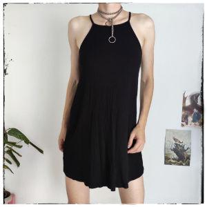 [ ΦΟΡΕΜΑ ] Mini black dress [ medium ]