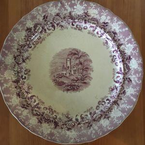 Vintage αυθεντικό συλλεκτικό πορσελάνινο πιάτο Cardiff & Swansea F. Primavesi & Sons