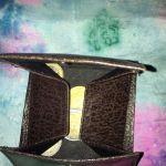 Δερμάτινο καφέ πορτοφόλι για ψιλα