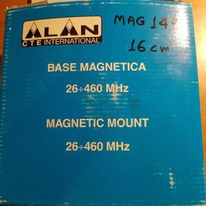 ALAN CTE International magnetic mount, μαγνητική βάση κεραίας