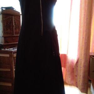 Μαύρο φόρεμα τζιν ελαστικό HELMI XL(στενή γραμμή)