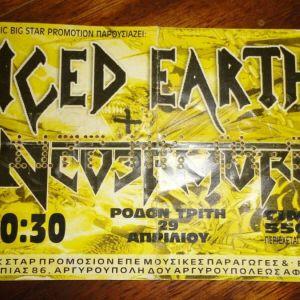 Iced Earth εισιτήριο 1997