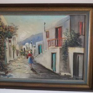 Πίνακας ζωγραφικής με κορνίζα, 86Χ66εκ.