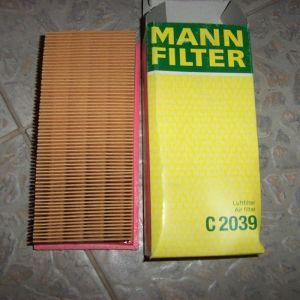MANN C 2039 AIR FILTER VW GOLF I-CADDY I-GOLF I CABRIO-JETTA I II - SCIROCCO 53-53B