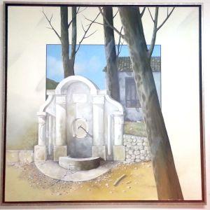 Ελαιογραφία σε μουσαμά 115χ115 cm