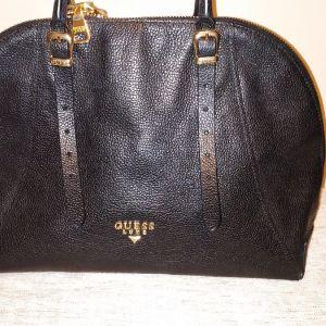 guess luxe δερμάτινη τσάντα