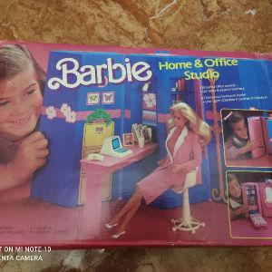 retro γραφείο barbies