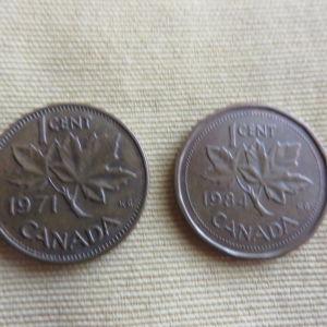 2 νομισματα Καναδα
