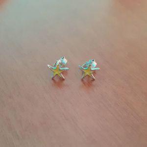 Ασημένια σκουλαρίκια αστερίες