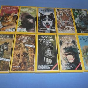 NATIONAL GEOGRAPHIC 10 VHS Ζ8