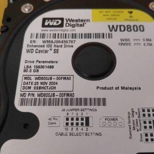 Σκληρός Δίσκος IDE-ATA Western Digital 80gb