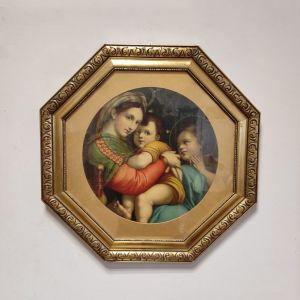Εικόνα της Παναγίας σε χρυσή οκτάγωνη κορνίζα