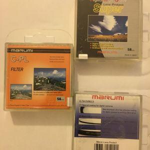 MARUMI C-PL 58mm & 58mm Super L.P.
