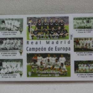 Real Madrid - κάρτα - ημερολόγιο