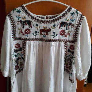 Ethnic μπλούζα ZARA