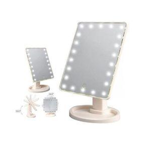 Περιστρεφόμενος καθρέφτης μακιγιάζ με LED – 16LED