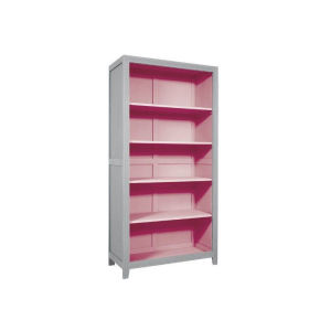 Βιβλιοθήκη Laurette σε χρώμα γκρι και ροζ