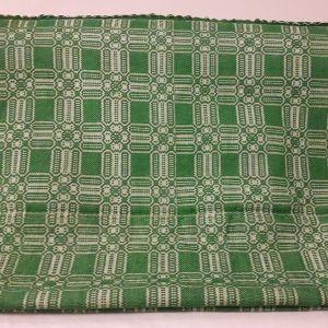 Κουβέρτα υφαντή αργαλειού ολόμαλλη πράσινη