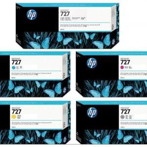 5 μελάνια HP 727 DesignJet Ink Cartridge για plotter