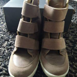 ASOS leather platform boots 41 siz