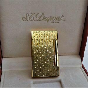 Αναπτήρας St. Dupont Slim Line 'D' Χρυσός Art Deco style