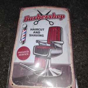 Vintage Ταμπελα- Καδρο Barber-Shop