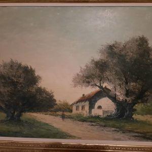 """Πίνακας του Τηνήσιου """"Αγροτόσπιτο με φούρνο"""""""